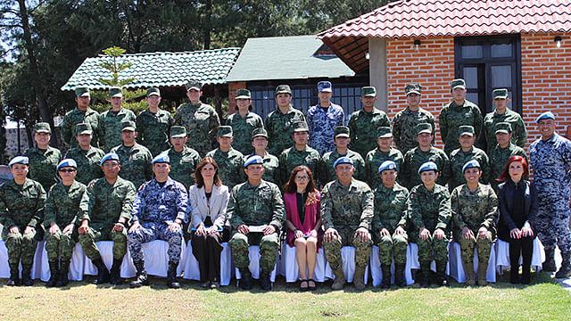 Se impartieron temas como La importancia de la participación de la mujer en las Operaciones de Paz (Foto: Cortesía)