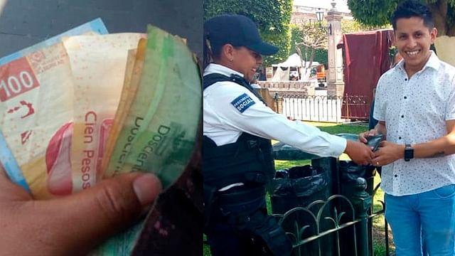 Policía de Morelia se halla cartera con dinero y la regresa