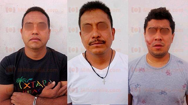 Policía de Morelia detiene a tres implicados en riña en pleno centro histórico