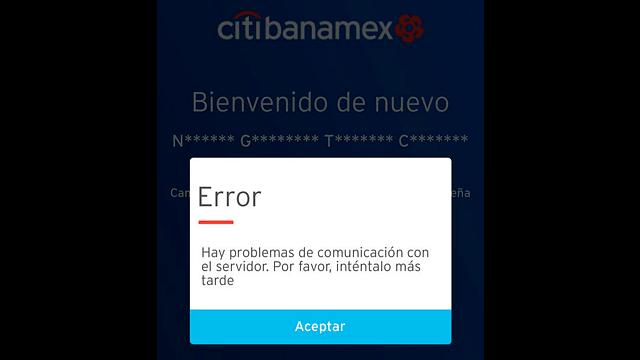 Citibanamex presenta fallas a nivel nacional