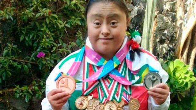Atleta mexicana con síndrome de Down suma 250 medallas
