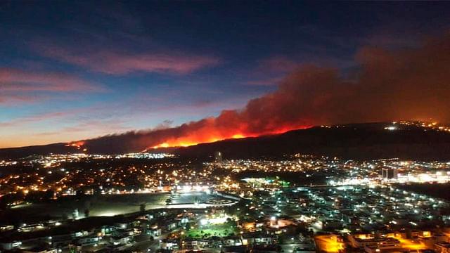 Mantienen bajo control incendio en Bosque La Primavera de Guadalajara