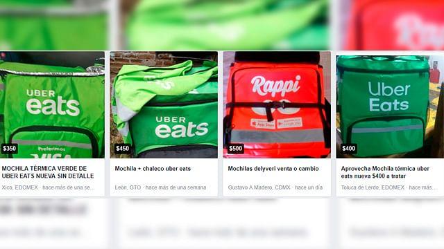 A bajo costo, ofrecen mochilas de Uber Eats en Facebook