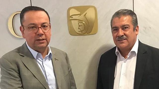 Raúl Morón se reúne con Germán Martínez, director del IMSS