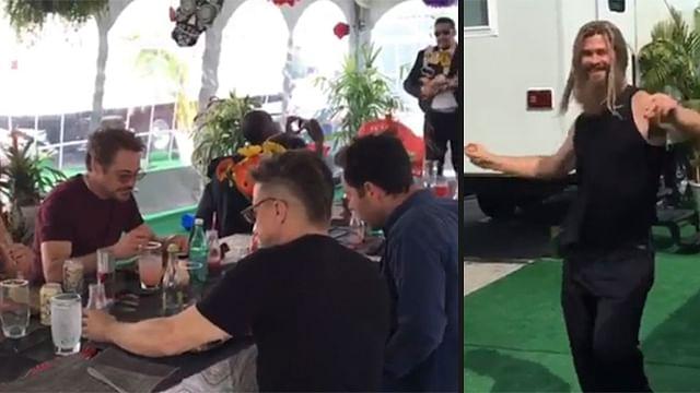 Avengers disfrutan de comida mexicana y La Bamba (Video)