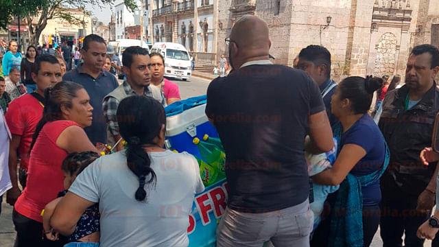 Cuatro detenidos en un operativo contra el comercio informal en Morelia