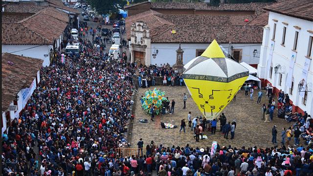 Globos de Cantoya en Pátzcuaro se celebra desde el siglo XIX: Báez Ceja