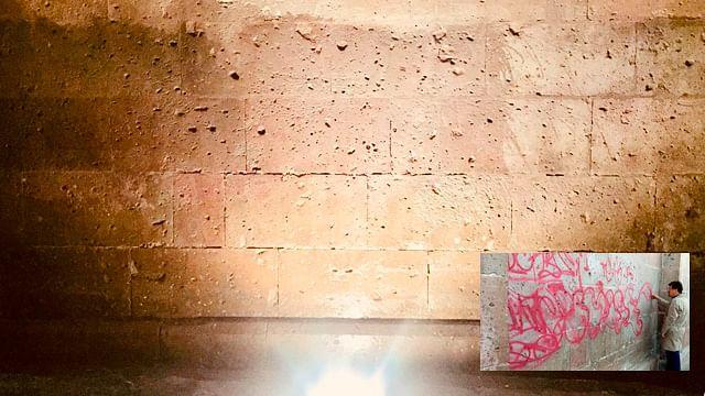 ¡Eliminado! Grafiti de más dos metros en Catedral