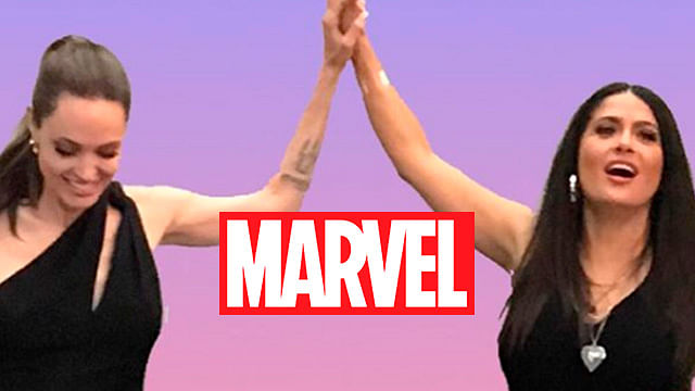 ¡Nuevas diosas de Marvel! Salma Hayek y Angelina Jolie comparten foto juntas