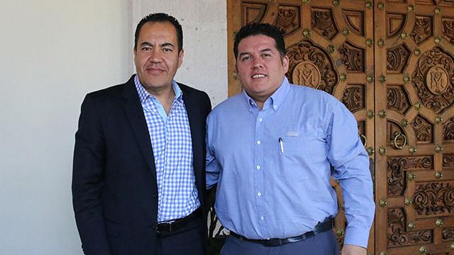 El secretario de Gobierno sostuvo un encuentro con el director general de esta dependencia federal (Foto Cortesía)