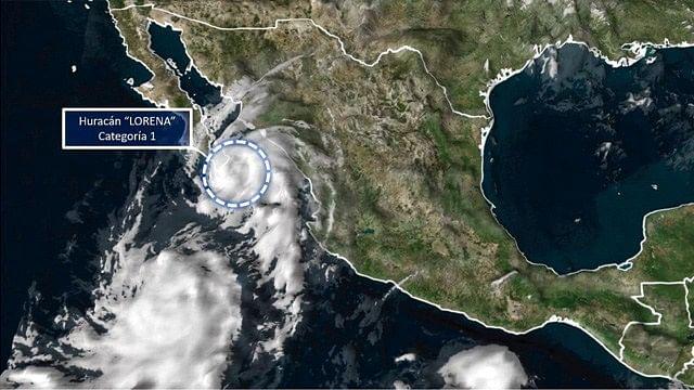 «Lorena» vuelve a ser huracán categoría 1