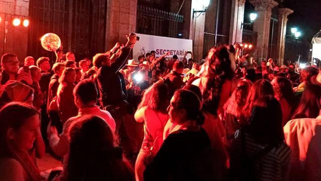 Realizaron un Flashmob para eliminar la violencia contra las mujeres