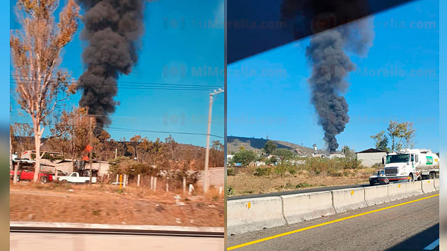 Atiende SSP incendio de ducto de Pemex en Tarímbaro, Michoacán