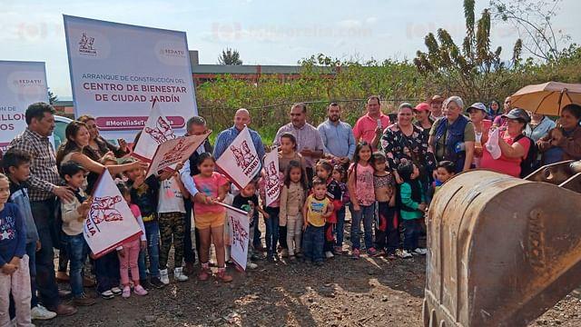Empieza construcción del Centro del Bienestar en Ciudad Jardín, en Morelia