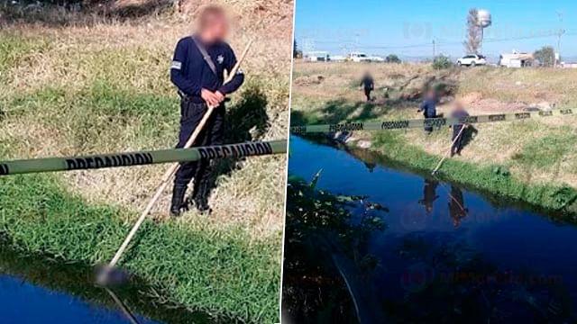Hallan a hombre ahogado en canal de aguas negras, en Tarímbaro
