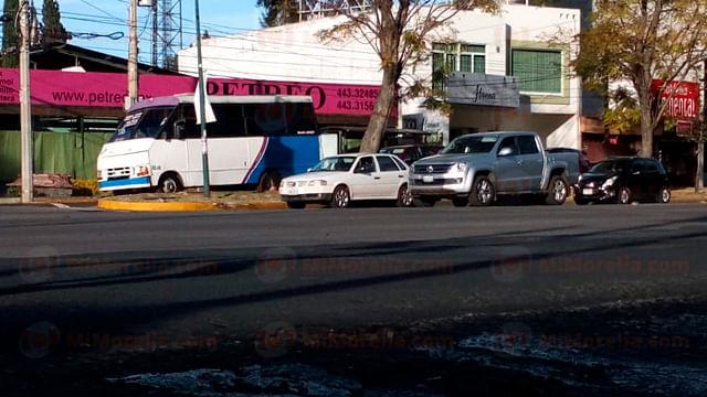 Valorarían habilitar vialidades exclusivas para el transporte público, en Morelia