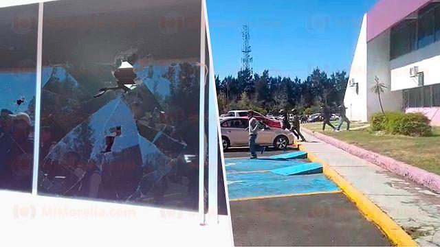 Denuncian a responsables de destrozos en el edificio de la SEE de Michoacán