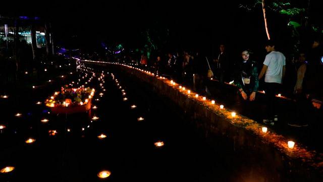 Recorridos nocturnos en el parque de Uruapan, a principios de abril