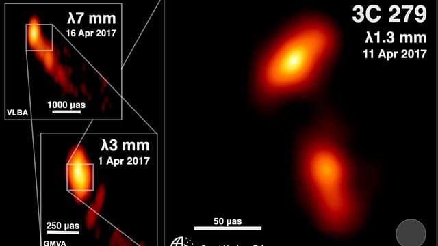 Fotografían agujero negro que expulsa partículas a casi la velocidad de la luz