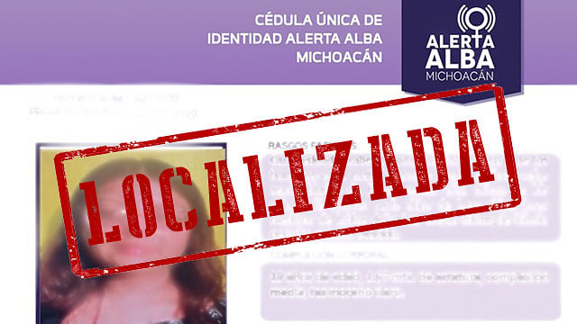 En Morelia, localizan en Villas del Pedregal a adolescente desaparecida
