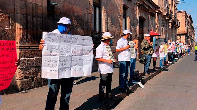 SUEUM se manifestará por adeudos económicos este viernes en Morelia