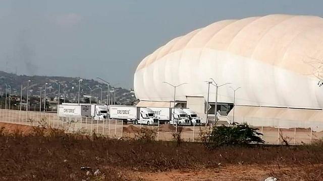 Monarcas Morelia; llegan camiones de mudanza al estadio de Mazatlán