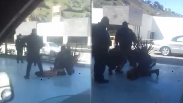 En México, con la bota en el cuello policía mata a detenido