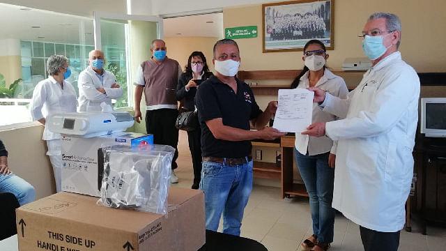 Recibe SSM donación de 30 ventiladores especiales para tratar Covid-19