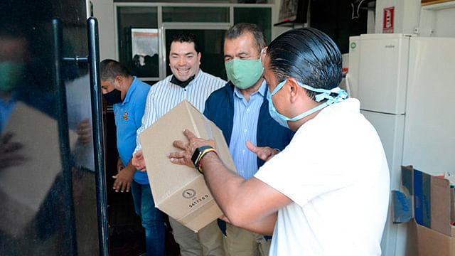 El líder sindical agradeció el apoyo de las Casas de Gestión del senador Cristóbal Arias, a quien envió un efusivo abrazo (Foto Cortesía)