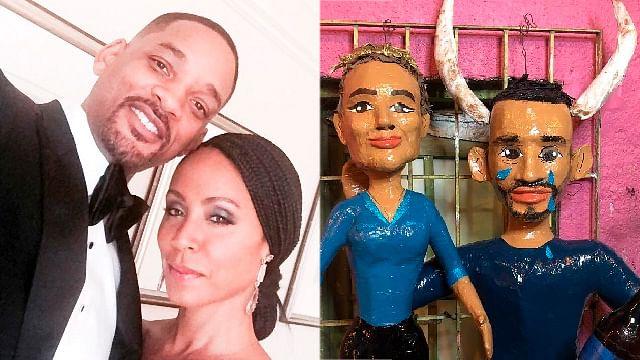 Crean piñatas de Jada Pinkett y Will Smith con cuernos incluidos