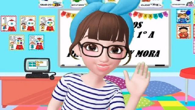 Docente se convierte en personaje animado para dar clases a pequeños de primaria