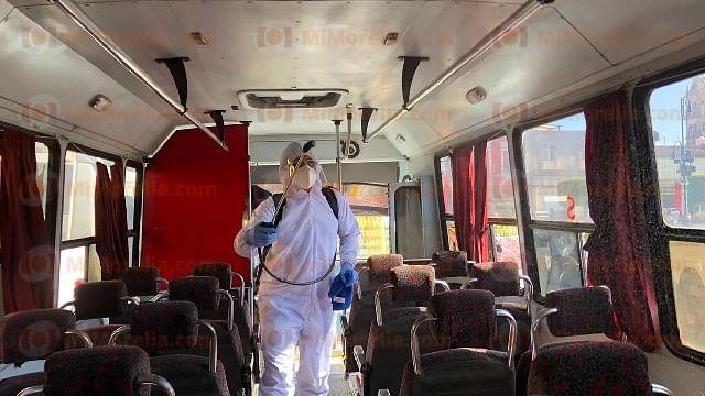 Por Covid-19, fallecen 19 choferes del transporte público de Morelia y Uruapan
