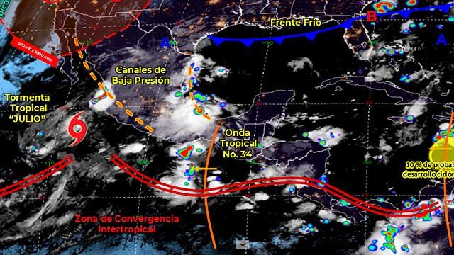 Michoacán, sin reporte de afectaciones por Onda Tropical No. 34