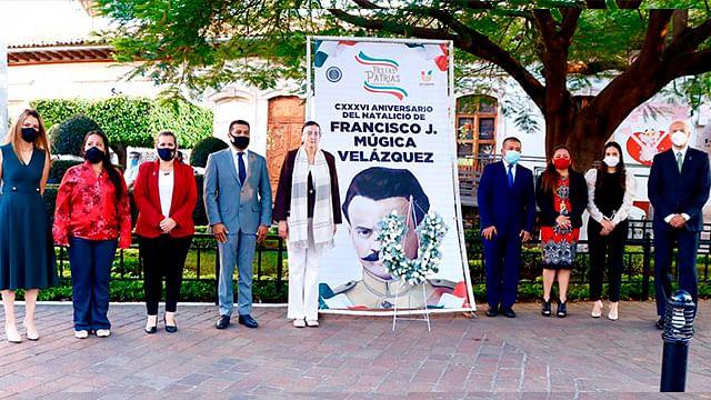 En Uruapan, conmemoran Aniversario del Natalicio de Francisco J. Múgica