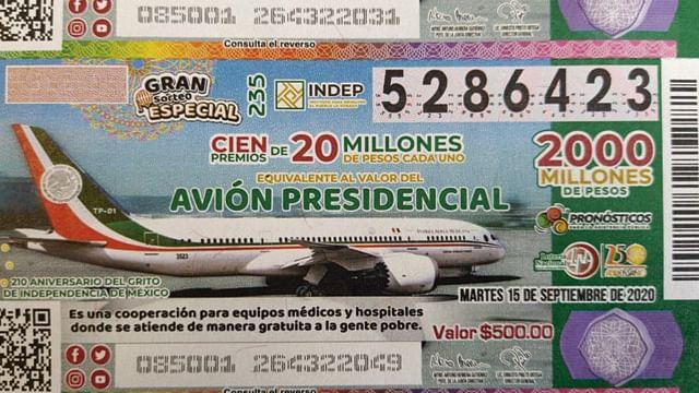 IMSS de Charo, uno de los ganadores en la rifa del avión presidencial