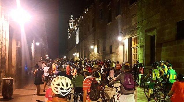 Este 16 de septiembre, paseo nocturno en bici por Morelia