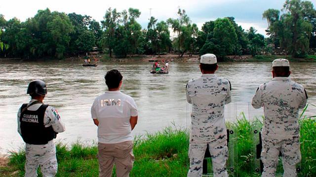 Vigilan frontera sur de México ante caravana migrante