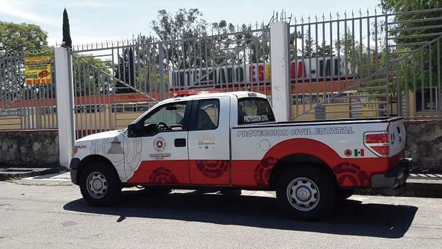 Se incendia salón del Internado España-México, en Morelia