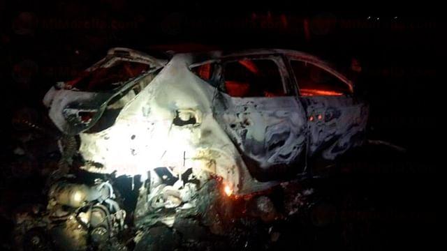 Muere hombre calcinado en accidente automovilístico, en Michoacán