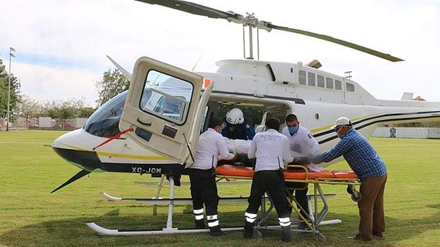 Trasladan a dos menores a Morelia luego de accidente en Huetamo