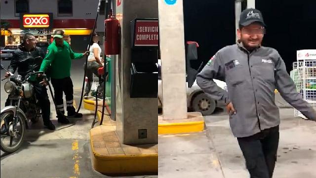 En Sinaloa despachan gasolina con baile; clientes hacen fila