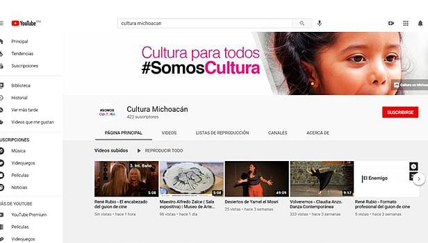 Secum ofrece en YouTube expresiones de la cultura michoacana