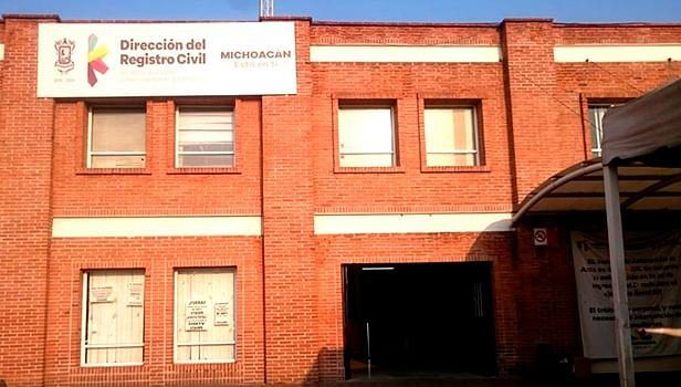 Morelia: Por contingencia, modifican horarios de atención en Registro Civil