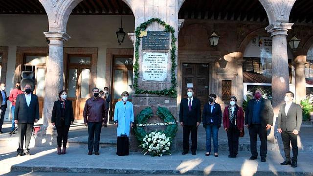 Conmemoran aniversario luctuoso de Mariano Matamoros, en Morelia