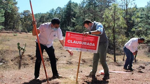 Proam clausura obra en construcción en Morelia