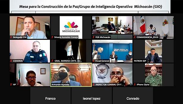 Grupo de Inteligencia Operativa de la Mesa de Coordinación para la Construcción de la Paz y la Seguridad (Foto Captura de pantalla)