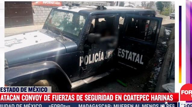 Matan a 13 uniformados en emboscada, en el Estado de México