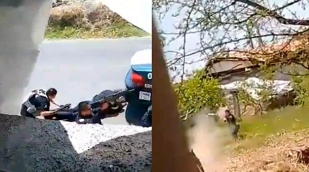 Difunden video de la emboscada que dejó 13 policías muertos en Edomex