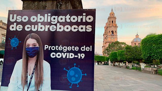 Supera Morelia los 13 mil contagios de Covid-19 este domingo