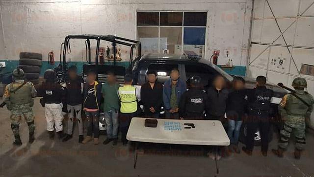 Detienen a 7 hombres tras enfrentamiento en Zamora, Michoacán